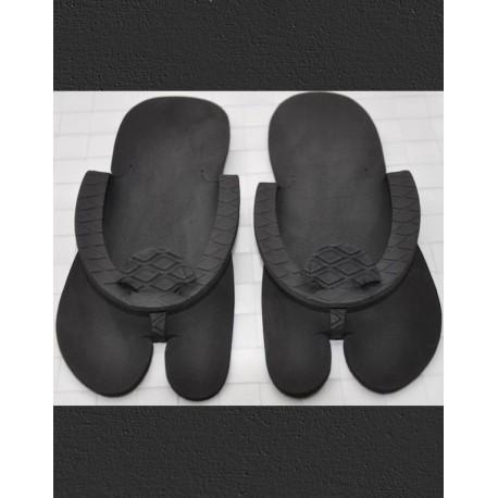 Mules Tong noires jetables Femme 5 mm