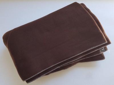 Couverture chocolat semi durable lit 1 personne