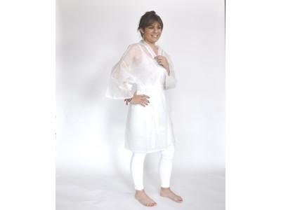 Peignoir blanc jetable ultra résistant