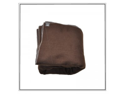 Couverture jetable semi durable lit 1 personne chocolat