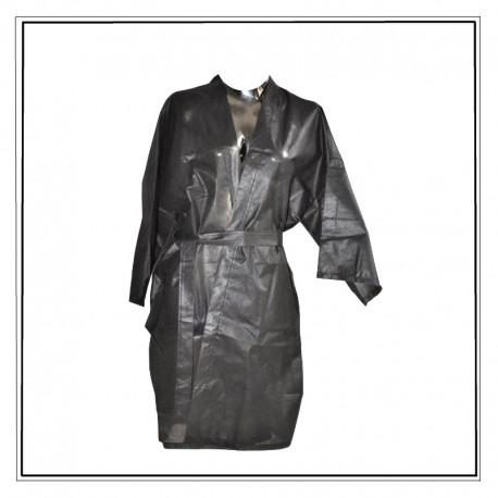peignoir jetable noir, kimono à usage unique non tissé