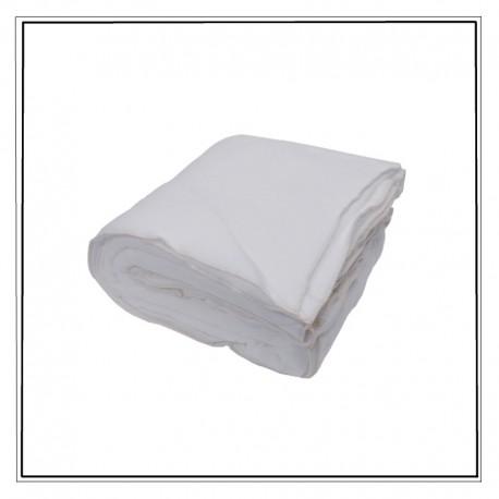 couverture plaid jetable blanc