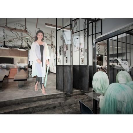 Peignoir biodégradable compostable